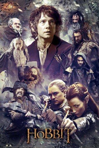 Poster Lo Hobbit, La Desolazione di Smaug, collage + omaggio multicolore