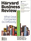 img - for Harvard Business Review (November 2011 - What Great Companies Do Differently) book / textbook / text book