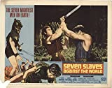 "Private: Seven Slaves Against Rome 1965 Authentic 11"" x 14"" Original Lobby Card Gordon Mitchell Adventure"