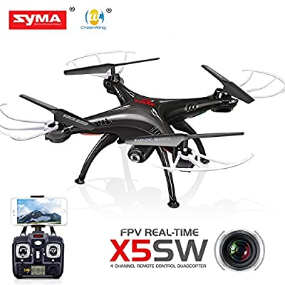 SYMA X5SW WIFI camera with RC RC Aerial quad Copter multirotor (drone) Black 6-axis gyro in the somersault headless mode in a stable flight 3D flight even for beginners
