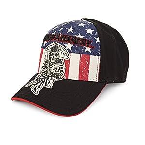 Sons Of Anarchy Reaper Logo Patch Fitted Gorra de Béisbol Hat