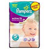 Pampers Active Fit Size 5 (Junior) Monthly Pack -136 Nappies