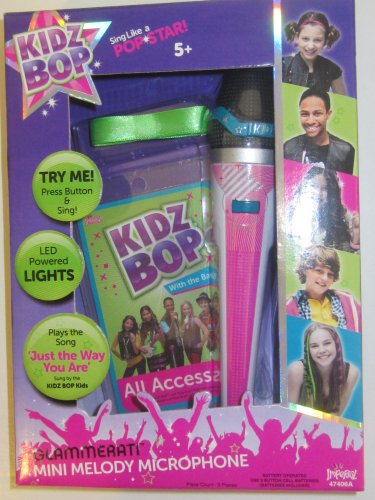 """Kidz Bop Glammerati Mini Melody Microphone-Plays the Song """"Just the Way Your Are"""""""