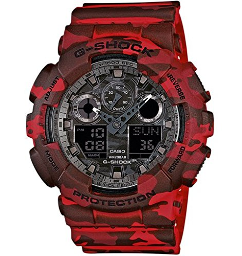 Casio G-Shock Wristwatch Unisex Electronic,Quartz (battery) Red - watches (Wristwatch, Unisex, Resin, Red, Red, Mineral)