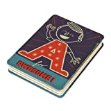 A is for Awesome Lined and Graph Paper Style Spineless Paul Thurlby Notebook by Wild and Wolf