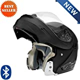 Vega Summit 3.0 V-Com Bluetooth Modular Helmet Solids with Inner Sun Visor