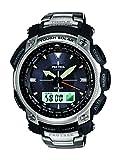 CASIO(カシオ) PRO TREK プロトレック PRG-505T-7DR ソーラー アナデジ 海外モデル トリプルセンサー ブラック メンズ 腕時計 (逆輸入品)
