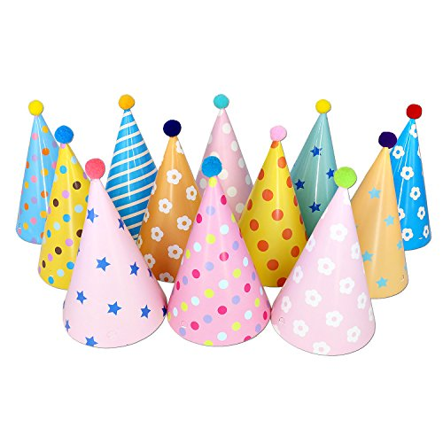 Birthday-Party-Hats-Birthday-Tea-Party-Hats-Decorations-Supplies-for-Kids-Adults-12-x-Fun-Party-HatsDIY