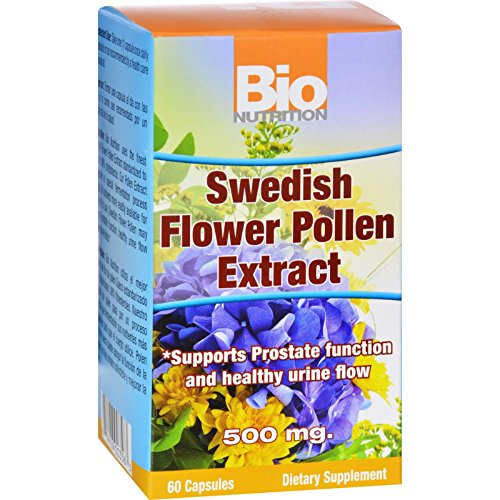 Bio Nutrition Inc Swedish Flower Pollen Extract - 500 mg - 60 Veg Capsules (Standardized Pollen Extract compare prices)