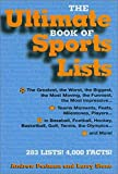 img - for The Ultimate Book of Sports Lists English Language edition by Postman, Andrew, Stone, Larry (2003) Hardcover book / textbook / text book