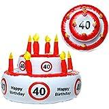 Aufblasbare Geburtstagstorte 40