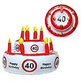 Geschenkidee lustige Geschenke - Aufblasbare Geburtstagstorte 40