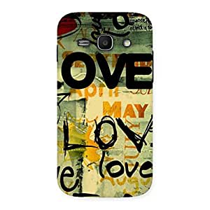 Special Love Typo Multicolor Back Case Cover for Galaxy Ace 3