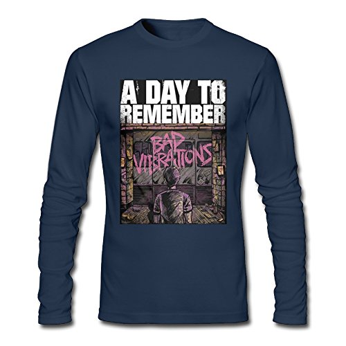 Long Sleeve Men' A Day To Remember Bad Vibrations Tshirt Cute Tshirt Personalized Short Sleeve