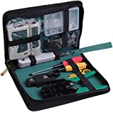 RJ45 RJ11 Cable Hand Tool Crimper Network Tool Kit Punch Down Impact Tool W/bag