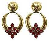 Ethnic Red Stone Earrings - Deco Junction