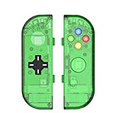 BASSTOP Translucent NS Joycon Handheld Controller Housing With D-Pad Button DIY Replacement Shell Case for Nintendo Switch Joy-Con (L/R) Without Electronics (Joycon D-Pad-Jungle Green)