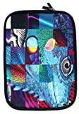 Emartbuy® Reptile Mosaic Water Resistant Neoprene Soft Zip Case/Cover suitable for Wacom Bamboo Pen Graphics Tablet ( 10-11 Inch eReader / Tablet / Netbook )