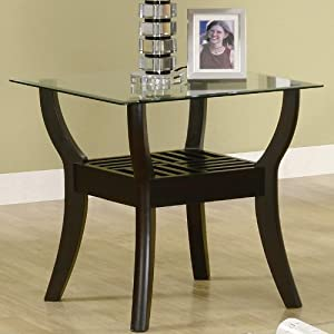 3 Piece Occasional Table Sets Coffee Table Set in Nut Brown by Coaster