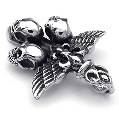 AnaZoz Fashion Jewelry Stainless Steel Men's Pendant Necklace Chians Wing Cross Skull Biker 18-26 Inch from AnaZoz