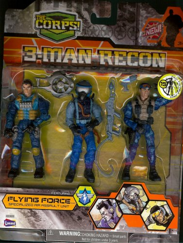 Buy Low Price Lanard The Corps! 3-Man Recon Figure (B001MY0ZHQ)