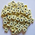 2 Full Sets of Scrabble Tiles (200 tiles)- Black Letters on Ivory Plastic Tiles - Replacement, Crafts, Scrapbooking and Jewellery