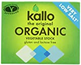 Kallo Organic Very Low Salt Vegetable Stock Cubes 66 g (Pack of 15)