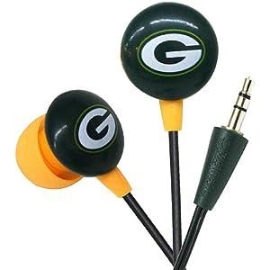 Zeikos Green Bay Packers Ear Bud Headphones