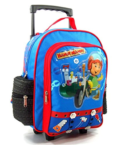 "Disney Handy Manny 12"" Toddler Rolling Backpack"