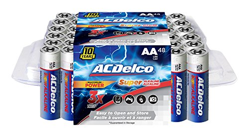ACDelco AA Super Alkaline Batteries, 48 Count (Ac Delco Batteries 48 compare prices)