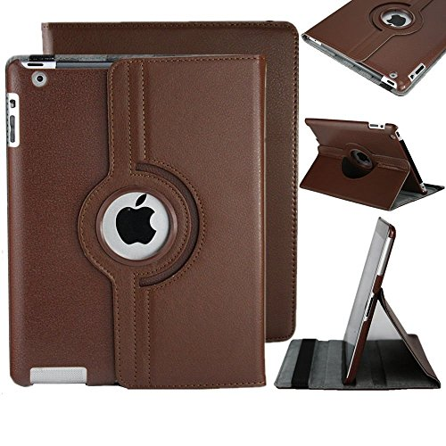 Nouveau-design-marron-tui-Housse-en-Cuir-PU-avec-Support-Rotatif--360--pour-iPad-Pro-129