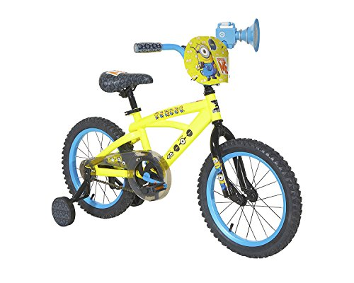 Lowest Prices! Minions Boys Dynacraft Bike, Yellow/Blue/Black, 16""