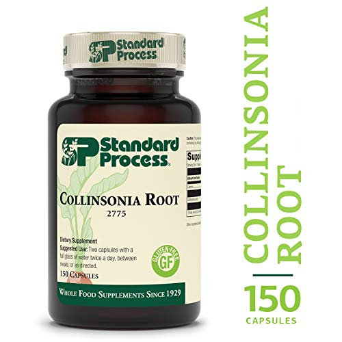 Standard Process - Collinsonia Root - Vascular Tissue and Water Balance Supplement, Supports Digestion, Bladder, and Kidneys, Gluten Free - 150 Capsules