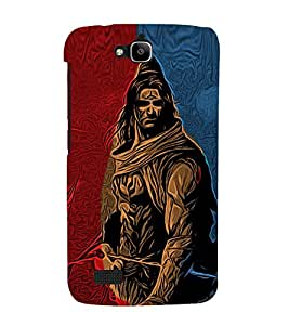 Lord Shiva 3D Hard Polycarbonate Designer Back Case Cover for Huawei Honor Holly :: Honor Holly