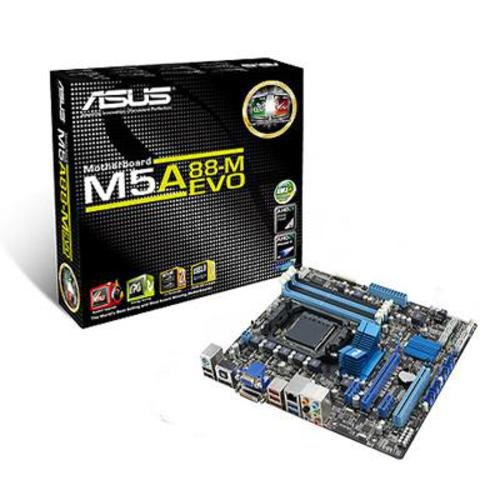 Asus M5A88-M EVO Motherboard (Socket AM3+, Integrated Radeon 4250, Hybrid CrossfireX Support, USB 3.0/SATA 6GB/s Support)
