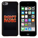Eason Shop / Hard Slim Snap-On Case Cover Shell - Don'T Panic Red Gold Red Text Poster - For Apple iPod Touch 6 6th Touch6