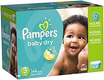 144 Count Pampers Baby Dry Diapers