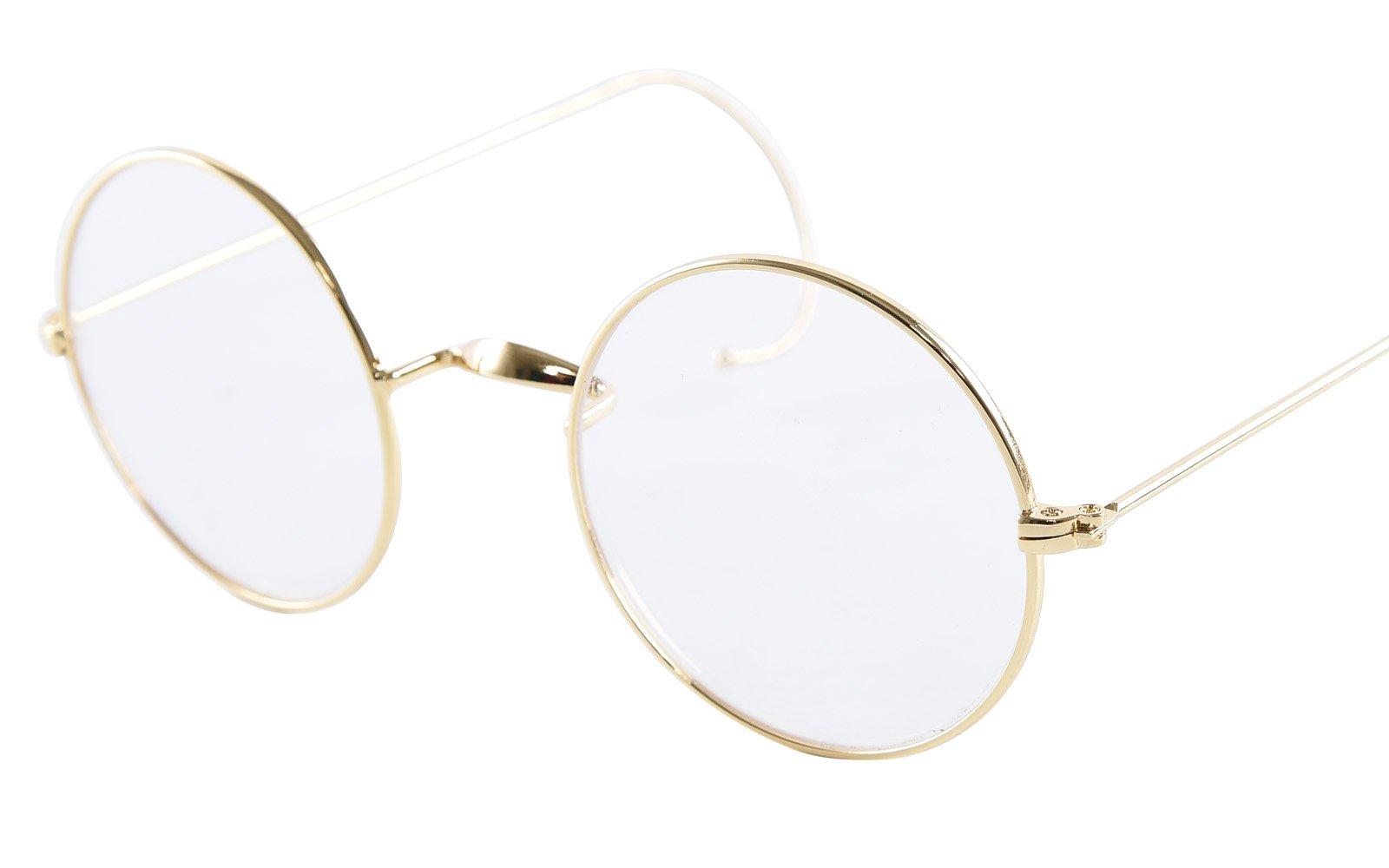 Eyeglass Frame Pads : Galleon - Agstum Retro Round Optical Rare Wire Rim ...