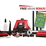 Sargent Steam® Cleaner Cleaning System | Multi-Purpose, High Pressure, Vapor Steamer Machine | Best for Commercial, Industrial, Home or Car Detail | Portable, Heavy Duty Cleaner | No Harsh Chemicals | Includes Attachments For Easy Cleaning