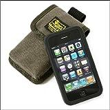 (ショルダーベルト用)シリコンケースに入れたままでも入るiPhoneケース(ウォークマンX、携帯電話、iPod classic、iPod touch対応)<バイオワッシャー加工/チャコールグレー>