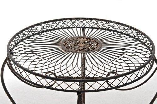 clp runder eisen tisch sheela in nostalgischem design durchmesser 88 cm h he 70 cm aus bis. Black Bedroom Furniture Sets. Home Design Ideas