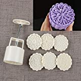 Bath Bomb Mold Kit & Bath Bombs Press for DIY Making Supplies Tool - 1 Barrel 6 Stamps (Color: White2)