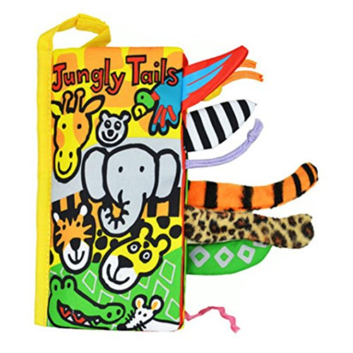 Tenworld-Animal-Tails-Cloth-book-Baby-Early-Development-Learning-Education-Toy