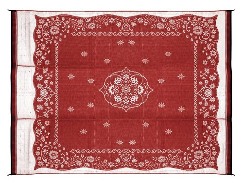 Buy Cheap Camco 42852 Reversible Outdoor Mat (9' x 12', Burgundy Oriental)