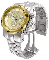 Invicta 10803 Venom Silver Band Gold Dial Watch