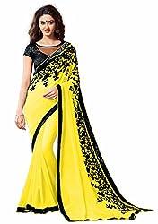 SRP Fashion Selection Women's Chiffon Saree(SRP-OF138,Yellow)