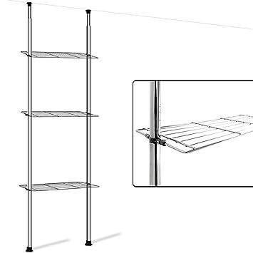 badregal teleskopregal regal eckregal badezimmer schrank waschmaschine de115. Black Bedroom Furniture Sets. Home Design Ideas