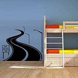 Wall Decal Vinyl Sticker Decals Art Decor Design Road Track Car Band Traffic Sign Nursery Kids Gift (M1425)