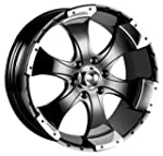 Ion Alloy 136 Black Wheel with Machin...