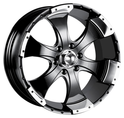 Ion Alloy 136 Black Wheel With Machined Lip 15x66x139 7mm